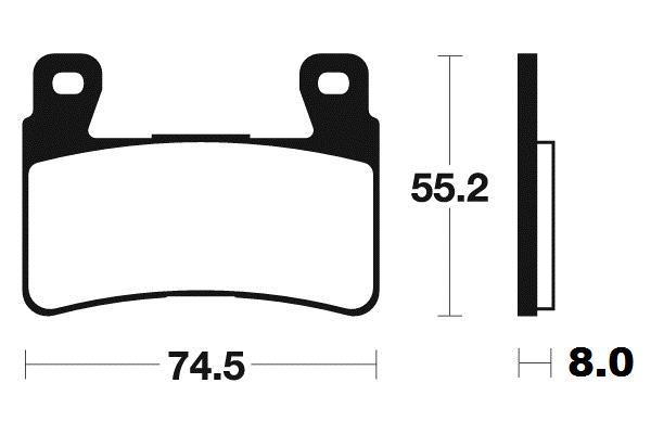 Predné brzdové doštičky SBS 734RS - Honda CBR 929 RR Fireblade, 929ccm - 00-01 SBS (Bendix)