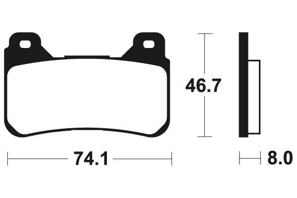 Predné brzdové doštičky SBS 809HS - Honda CBR 1000 RR Fireblade, ABS 1000ccm - 04-15 SBS (Bendix)
