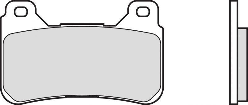 Predné brzdové doštičky SBS 809DC - Honda CBR 1000 RR Fireblade, ABS 1000ccm - 04-15 SBS (Bendix)