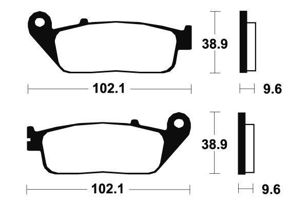 Predné brzdové doštičky SBS 700HF - Honda VT C, SHADOW 750ccm - 98>03 SBS (Bendix)