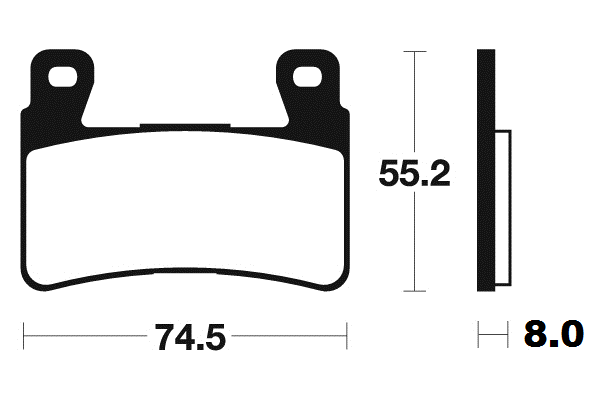 Predné brzdové doštičky SBS 734DC - Honda VTR 1000 SP-1, 1000ccm - 00-01 SBS (Bendix)