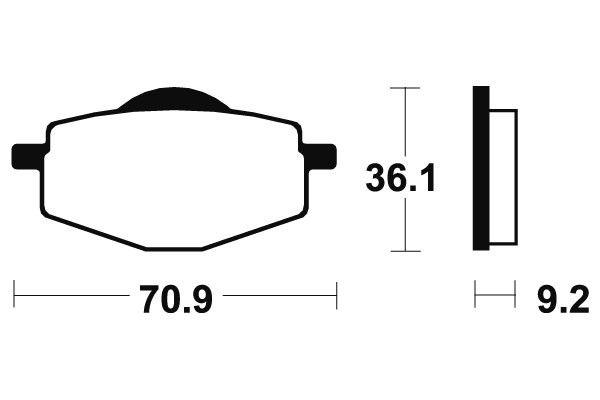 Predné brzdové doštičky SBS 575HF - Yamaha TT R S, T 225ccm - 01> SBS (Bendix)