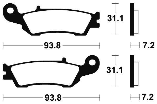 Predné brzdové doštičky SBS 840SI - Yamaha YZ 125ccm - 08> SBS (Bendix)