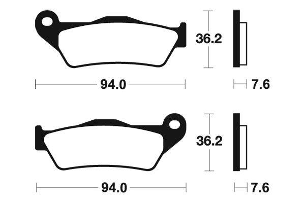 Predné brzdové doštičky SBS 671HF - Yamaha YZF R 125ccm - 08> SBS (Bendix)