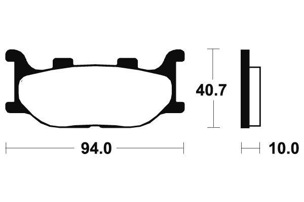 Predné brzdové doštičky Brembo - Yamaha XVS Drag Star 125ccm - 00> Brembo (Itálie)