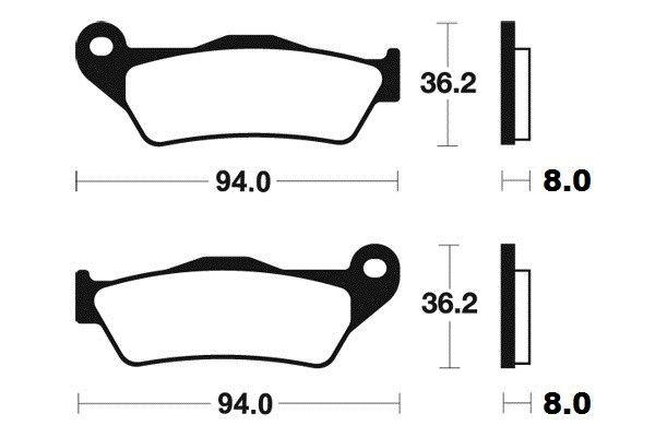 Predné brzdové doštičky Brembo 07BB04SD - Yamaha YZF R 125ccm - 08> Brembo (Itálie)