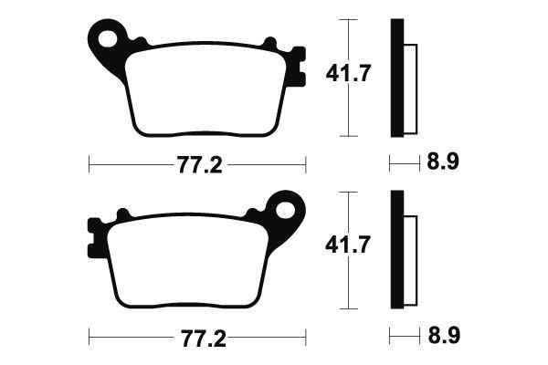 Zadné brzdové doštičky SBS 834LS - Honda CBR 1000 RR Fireblade/ ABS 1000ccm - 06-18 SBS (Bendix)