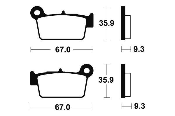 Zadné brzdové doštičky SBS 790SI - Yamaha YZ 125ccm - 03>07 SBS (Bendix)