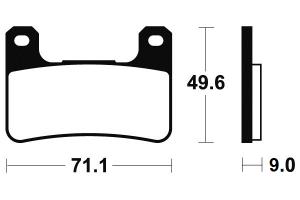 Predné brzdové doštičky Brembo 07SU27RC - Suzuki GSX 1300 R Hayabusa, 1300ccm - 08-12
