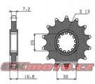 Reťazové koliesko SUNSTAR - Honda CBR 600 RR, 600ccm - 03-17
