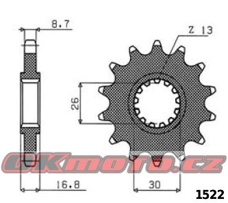 Reťazové koliesko SUNSTAR - Honda CBR 1000 RR Fireblade, 1000ccm - 04-16 SUNSTAR (Japonsko)
