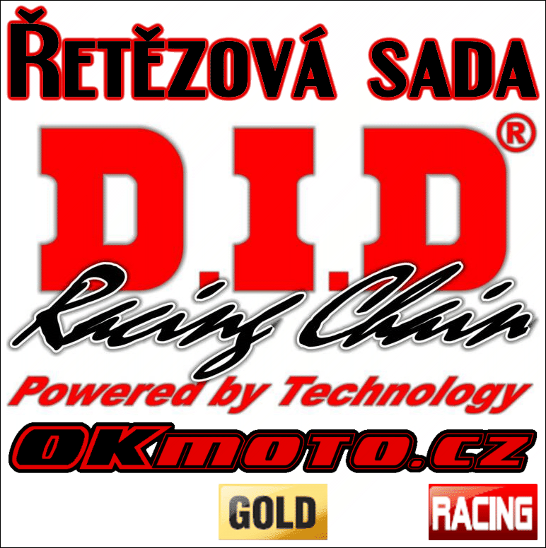 Reťazová sada D.I.D - 520DZ2 GOLD - Honda CRF 230 F, 230ccm - 03>14 D.I.D (Japonsko)