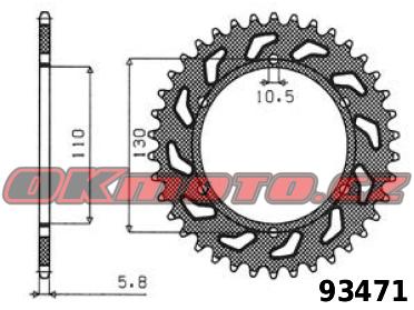 Rozeta SUNSTAR - Kawasaki GPZ 500 S (EX500), 500ccm - 87>93 SUNSTAR (Japonsko)