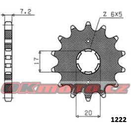 Reťazové koliesko SUNSTAR - Honda XR 125 L, 125ccm - 03>08 SUNSTAR (Japonsko)