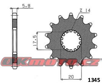 Reťazové koliesko SUNSTAR - Yamaha WR 125, 125ccm - 91>00 SUNSTAR (Japonsko)