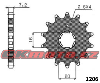 Reťazové koliesko SUNSTAR - Yamaha XT 125 R, 125ccm - 05>07 SUNSTAR (Japonsko)