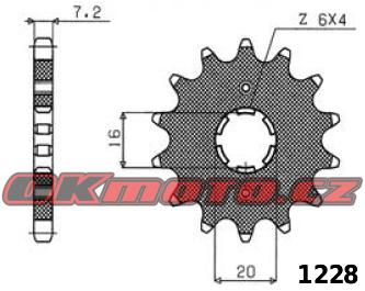 Reťazové koliesko SUNSTAR - Yamaha YBR 125, 125ccm - 07-15 SUNSTAR (Japonsko)