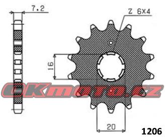Reťazové koliesko SUNSTAR - Yamaha SR 125, 125ccm - 92-02 SUNSTAR (Japonsko)
