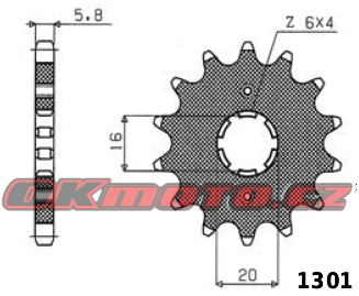 Reťazové koliesko SUNSTAR - Yamaha YZ 125, 125ccm - 86>86 SUNSTAR (Japonsko)