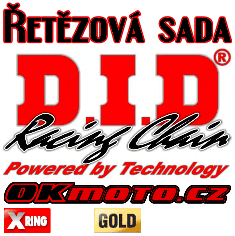 Reťazová sada D.I.D - 525VX GOLD X-ring - Cagiva 650 V-Raptor, 650ccm - 01>07 D.I.D (Japonsko)