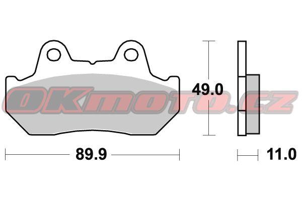 Predné brzdové doštičky Brembo 07HO10SA - Honda CB 400 N, 400ccm - 82>85 Brembo (Itálie)