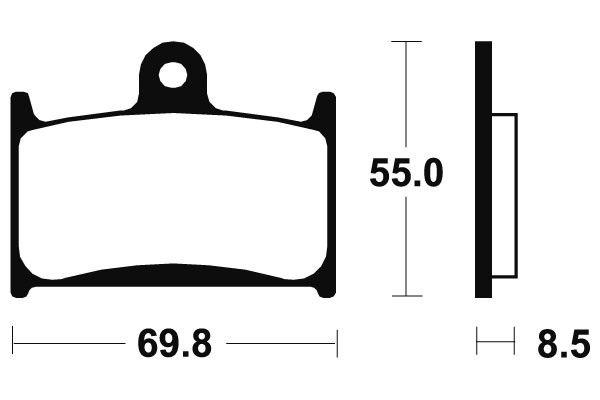 Predné brzdové doštičky SBS 624RS - Triumph 1050 Sprint GT / SE, 1050ccm - 11-16 SBS (Bendix)