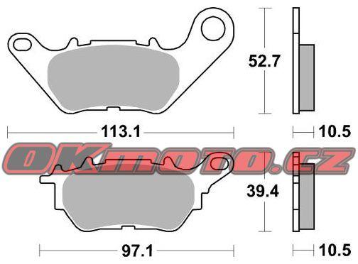 Zadné brzdové doštičky SBS 932HF - Yamaha YZF-R3, 321ccm - 15-18 SBS (Bendix)