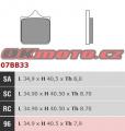 Predné brzdové doštičky Brembo 07BB33SA - BMW S1000R, 1000ccm - 14-18
