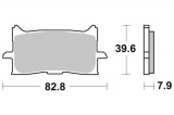 Predné brzdové doštičky SBS 940HS - Honda CRF 1000 L Africa Twin DCT, 1000ccm - 16-19