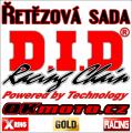 Reťazová sada D.I.D - 520ERVT GOLD X-ring - Honda CRF 450 R, 450ccm - 09-18   Ocelová rozeta, Duralová rozeta
