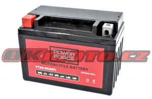 Motobatéria POWER FORCE YTX9-BS, 12V, 8Ah