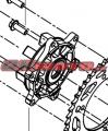 Náboj zadné rozety Benelli - Benelli TRK 502 X, 500ccm 18-19