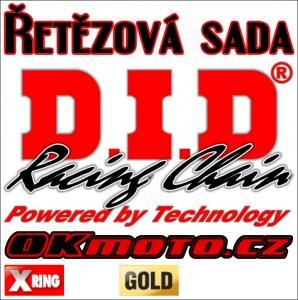 Reťazová sada D.I.D - 520VX3 GOLD X-ring - CF Moto 650 MT, 650ccm - 17-20