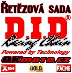 Reťazová sada D.I.D - 520ERVT GOLD X-ring - Yamaha YFM 700 R Raptor, 700ccm - 06-20
